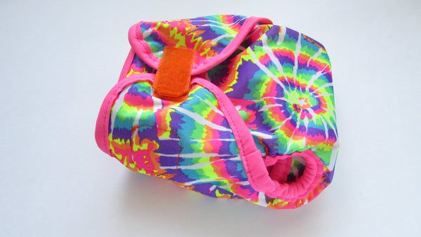 Prissy Pants Neon Tie Dye Diaper Cover-Fruit of the Womb Diapers