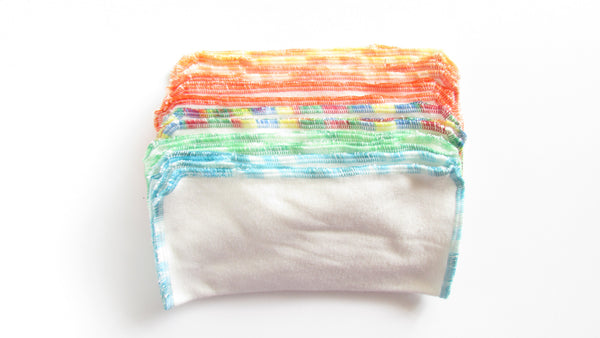 12 Organic Bamboo cloth wipes-Fruit of the Womb Diapers
