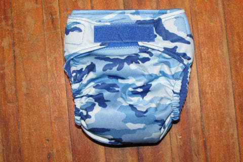 One Size TADA AIO Blue Camo-Fruit of the Womb Diapers