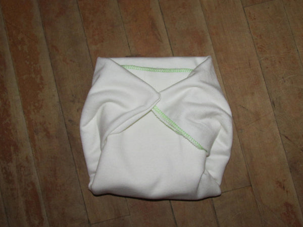 Infant Green Apple Twist flat diapers-Fruit of the Womb Diapers