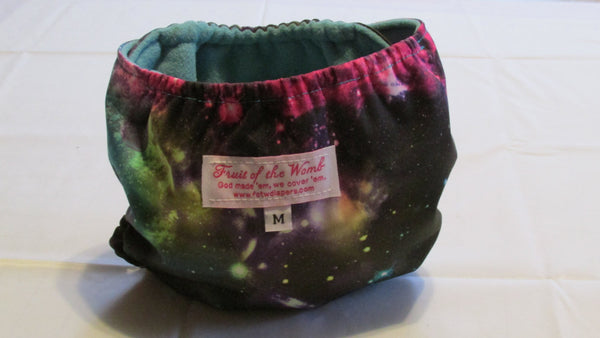 Galaxy Print pocket palz-Fruit of the Womb Diapers
