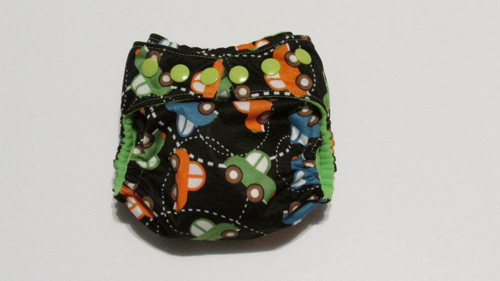 Pocket palz Pocket Diaper in Cars print-Fruit of the Womb Diapers