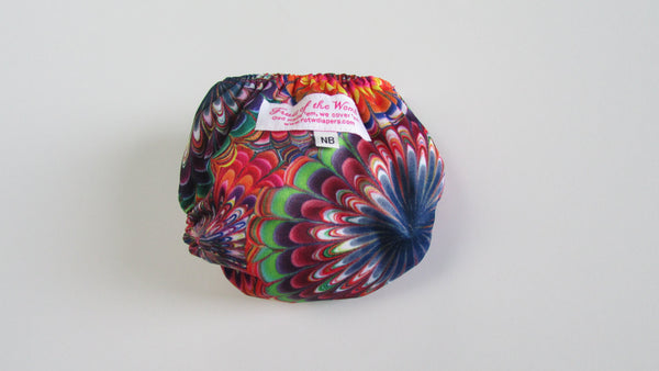 Pocket Palz Pocket Diaper in Carnival print-Fruit of the Womb Diapers