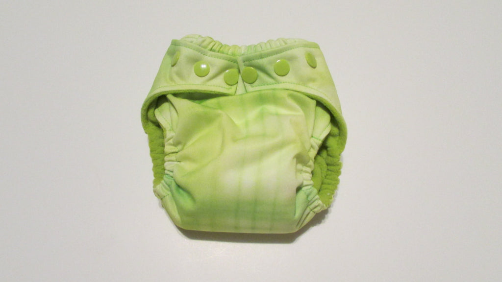 Watercolor Green Plaid Print pocket palz-Fruit of the Womb Diapers