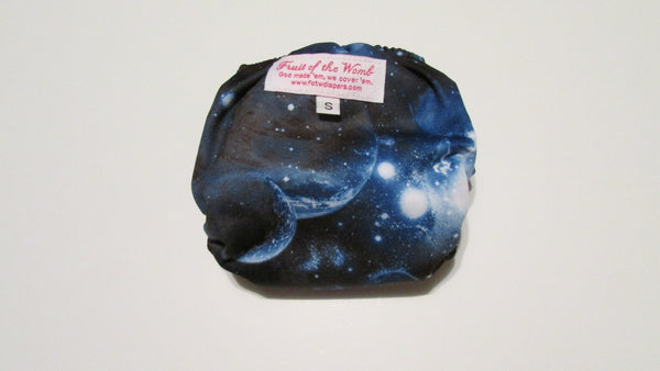 Blue Galaxy Print pocket palz-Fruit of the Womb Diapers