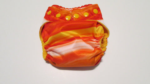 Orange Lava Print pocket palz-Fruit of the Womb Diapers