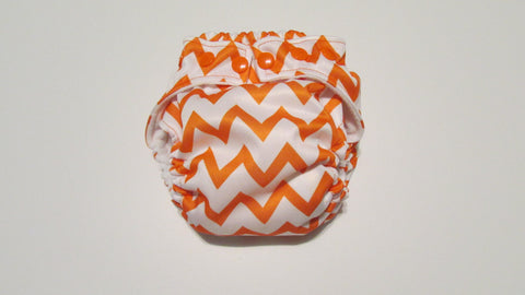 Orange Chevron Print pocket palz