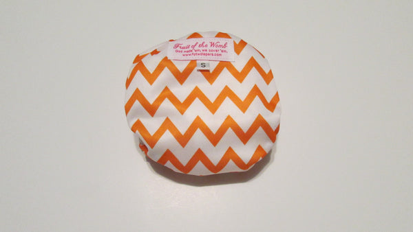 Orange Chevron Print pocket palz-Fruit of the Womb Diapers