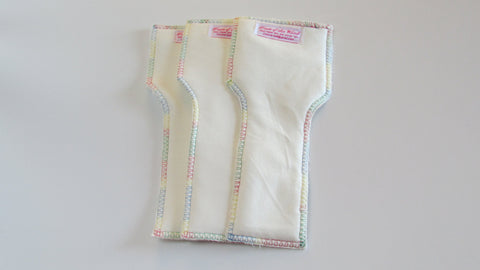 NB/S 100% organic bamboo inserts set of three-Fruit of the Womb Diapers