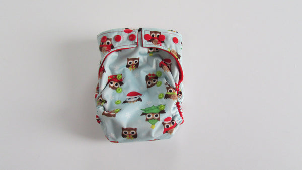 TADA AIO Owl Be Home for Christmas-Fruit of the Womb Diapers