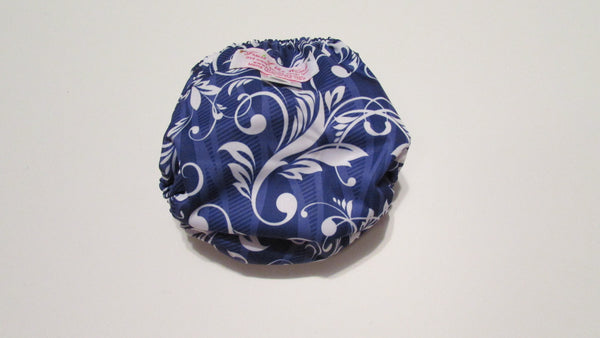 Pocket Palz Pocket Diaper in Grape Lulu print-Fruit of the Womb Diapers