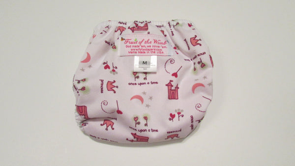 Pocket Palz Pocket Diaper in Princess Castle print-Fruit of the Womb Diapers