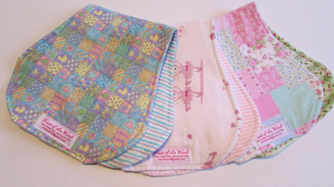 Reversible Contoured Burp Cloth & Bib set