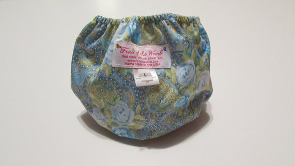 Pocket Palz Pocket Diaper in Paisley Roses print-Fruit of the Womb Diapers