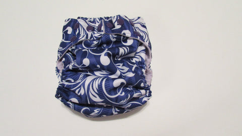 Pocket Palz Pocket Diaper in Grape Lulu print