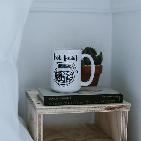 Don't Forget to Pretend 14oz Natural Ceramic Mug