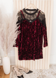 Velvet and Lace Tunic Dress