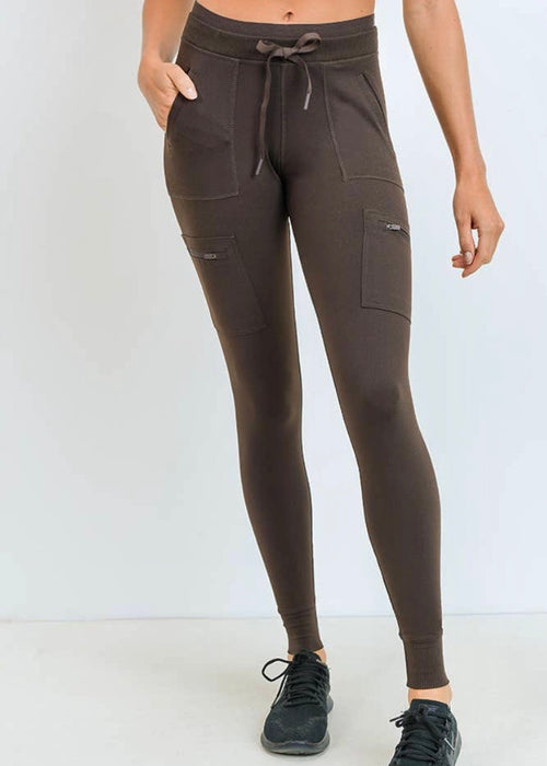 Zippered Athleisure Hybrid Earthy Olive Joggers