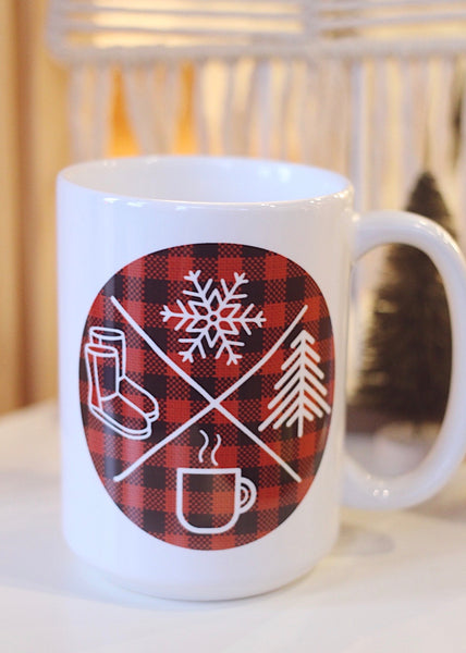 Winter Icon 15oz White Mug