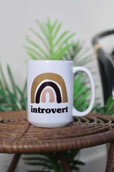 Introvert 15oz White Mug