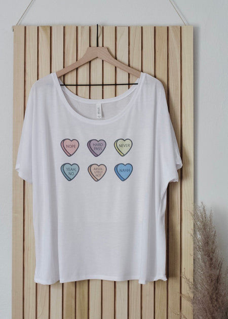 Good Heart Bad Mouth Camel Tee
