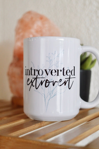 Introverted Extrovert 15oz White Mug