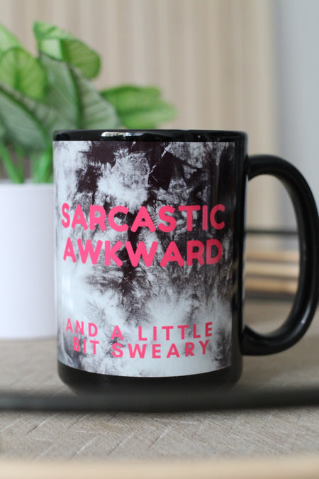 Resting Bitch Face Agate 15oz Black Mug