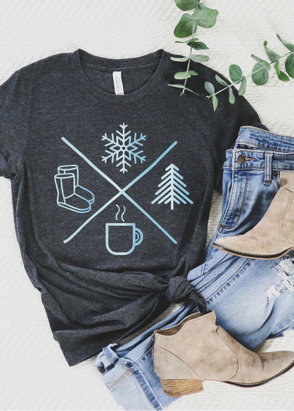 Winter Icon Charcoal Tee