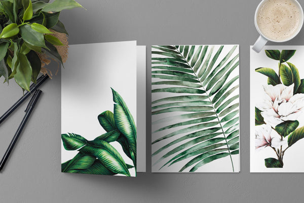 Tropical card design