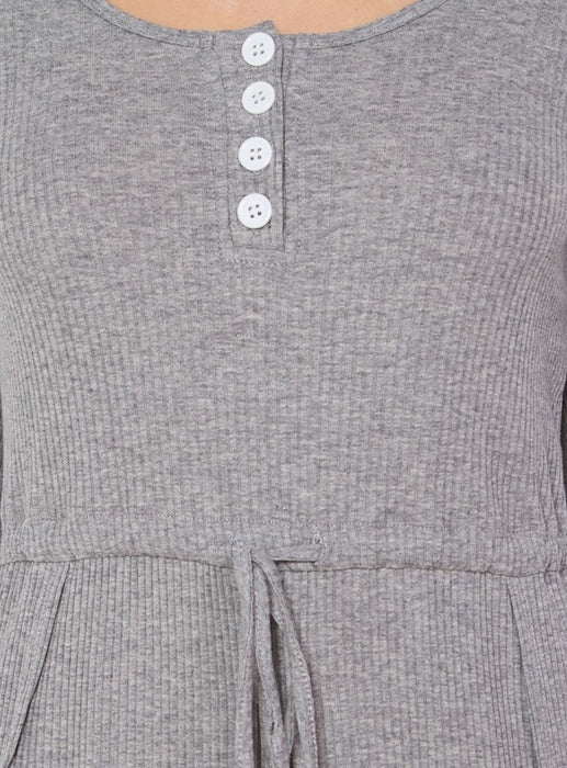 Playdate Grey Ribbed Romper
