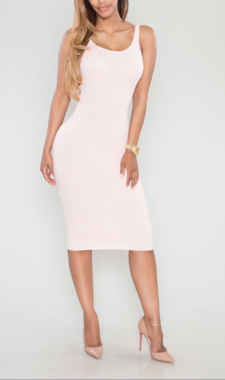 Mila Blush Bodycon Dress