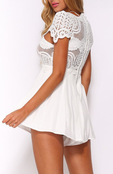White Lace Cute Romper Playsuit