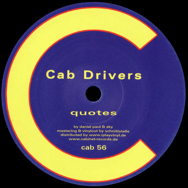 cab56 - Cab Drivers - Spaceship / Quotes - Cabinet