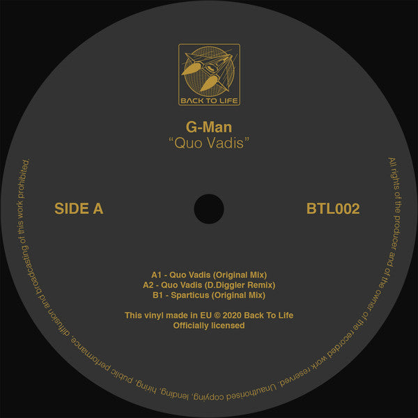 BTL002 - G-Man - Quo Vadis - Back To Life