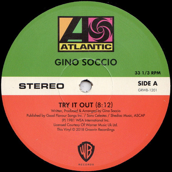 GRWB-1201 - Gino Soccio - Try It Out - Groovin