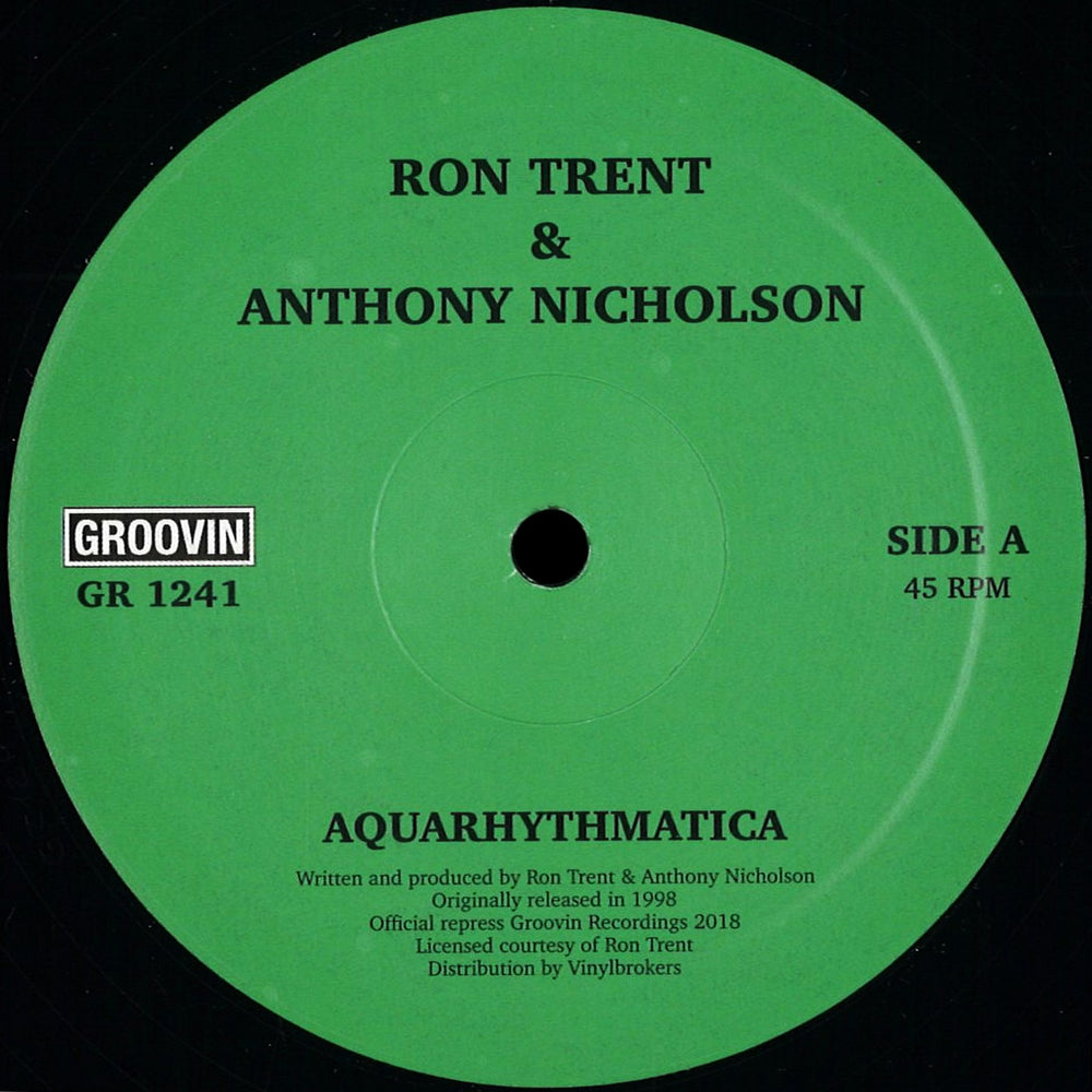 GR1241 - Ron Trent, Anthony Nicholson - Aquarhythmatica / City Beat - 12inch