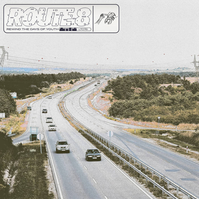 LT076 - Route 8 - Rewind The Days Of Youth LP - Lobster Theremin