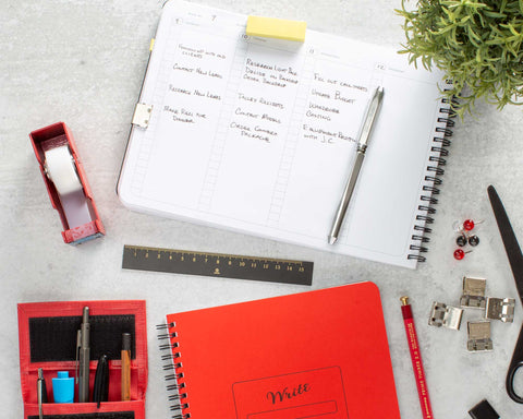 Weekly Planner on a desk at home