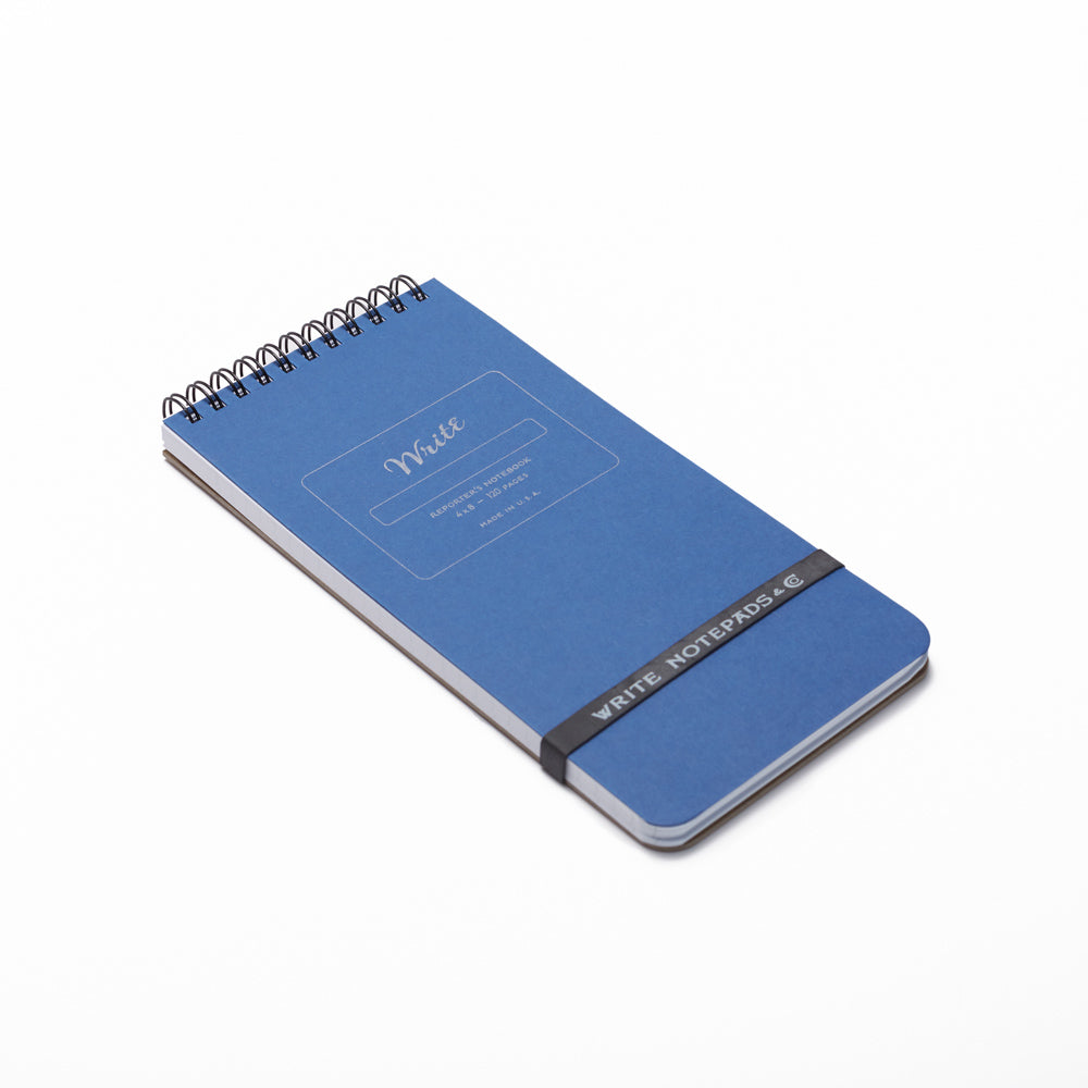 reporter notebooks blue