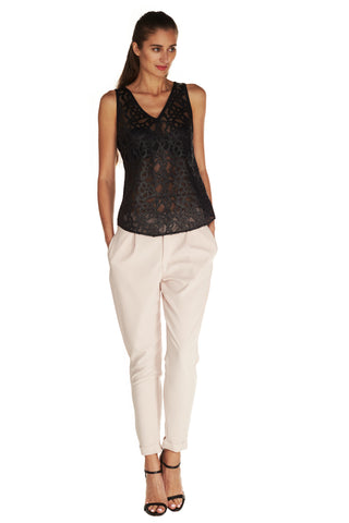 Cameron Lasercut Top - Kelly and Port