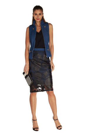 GWENYTH LASERCUT PENCIL SKIRT - WILL BE MADE TO ORDER