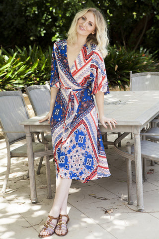 DANA WRAP DRESS - 50% OFF