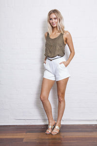 ALEX STUDDED SINGLET TOP 50% OFF