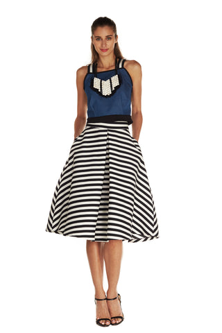 Emma Inverted Pleat Skirt - Kelly and Port