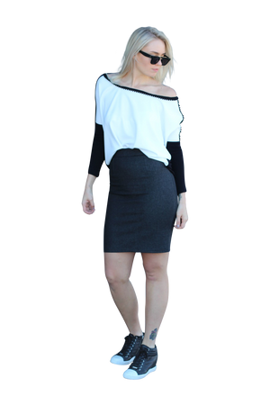 Polly Monochrome loose top - Kelly & Port