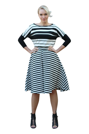 INES STRIPED TOP - WILL BE MADE TO ORDER