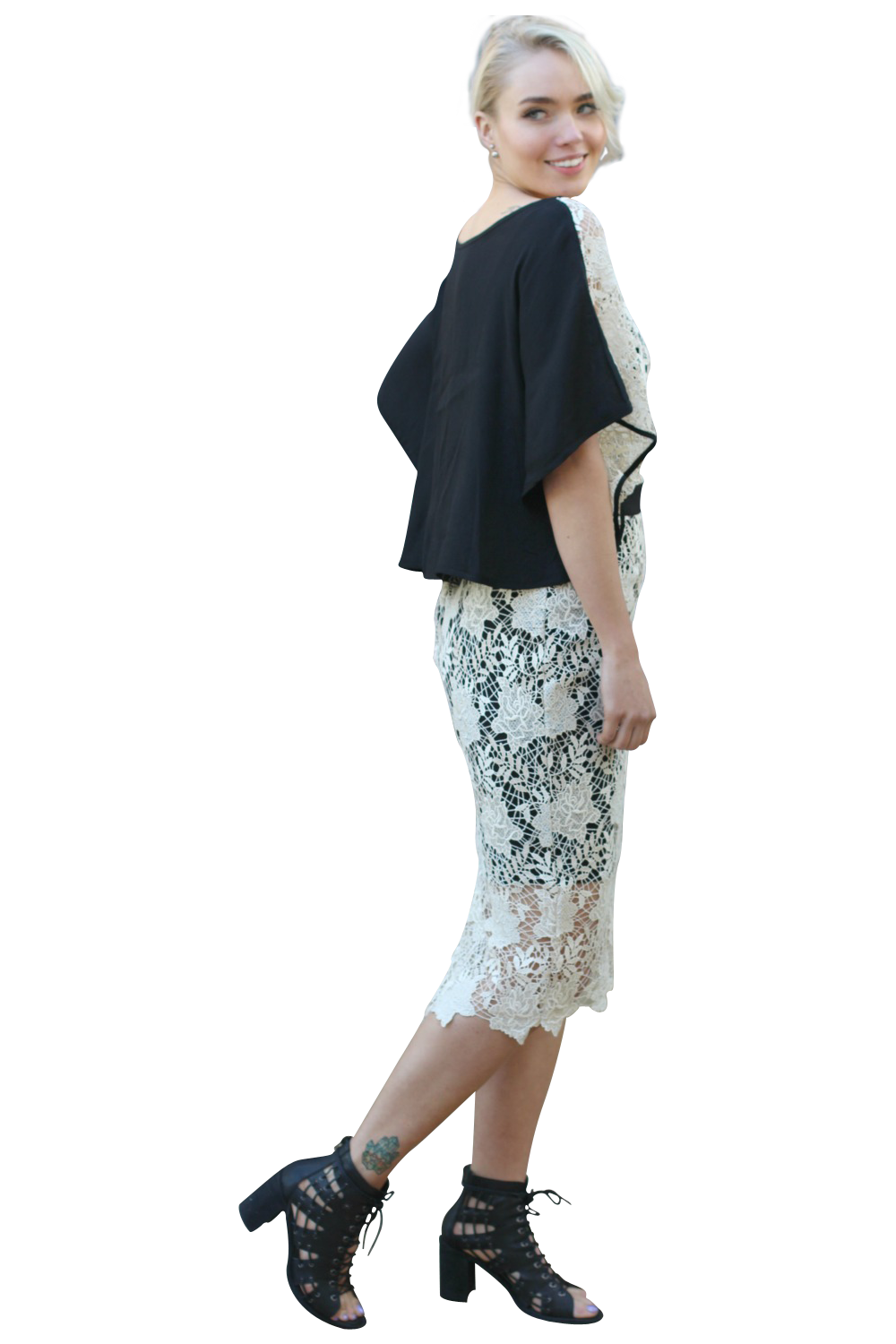 GWENYTH LACE PENCIL SKIRT - WILL MAKE TO ORDER