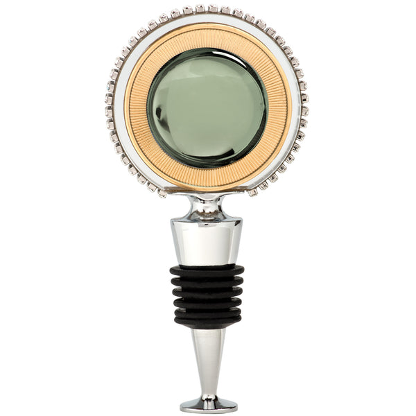 ALC Jewel Tone Round Crystal Wine Stopper