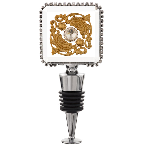 ALC Imperial Filigree Square Crystal Wine Stopper