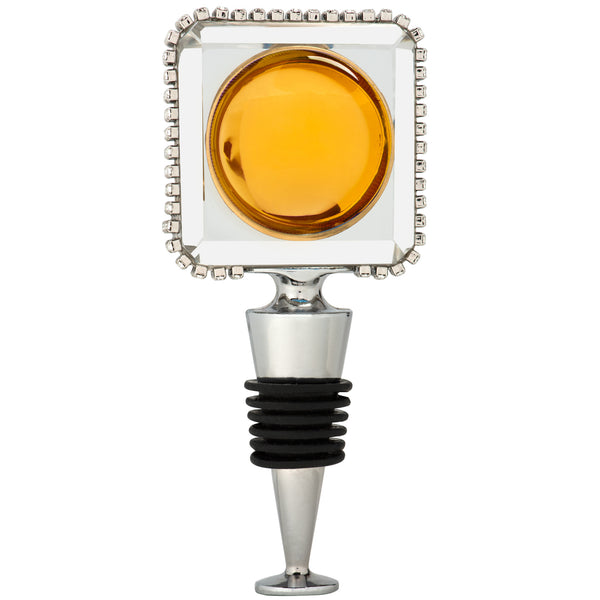 ALC Jewel Tone Square Crystal Wine Stopper